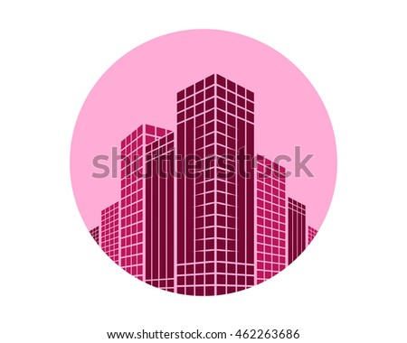 magenta building architecture icon