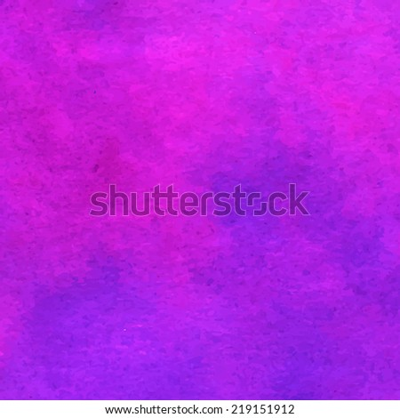 Magenta watercolour background design for commercial. Illustration made in vector. - stock vector