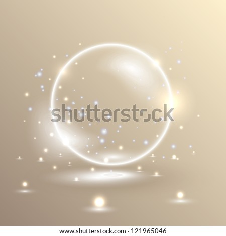 Magic ball/Vector illustration. You can use for presentation. - stock vector