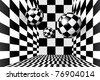 Magic balls in checkered room - stock vector