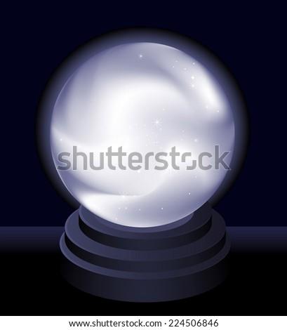 Magic Crystal Ball Fortune teller vector illustration - stock vector