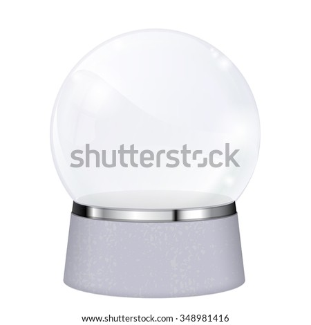 Magic crystal ball. Vector isolated on white background.