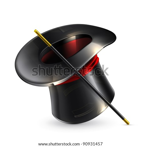 Magic cylinder hat, 10eps - stock vector