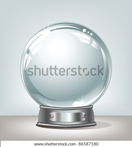 Magic globe on a light background - stock vector