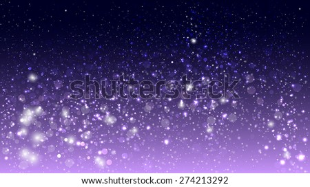 Magic glow and bokeh on purple background - stock vector
