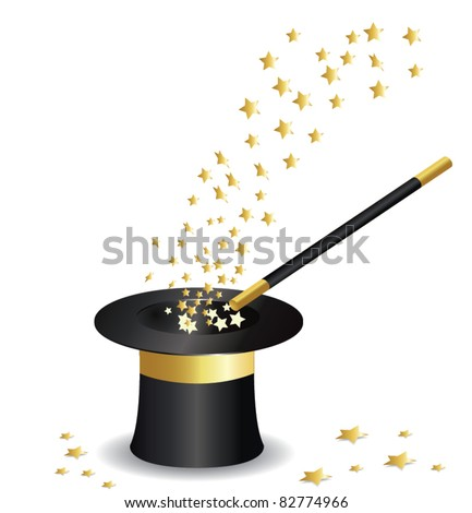 Magic hat vector - stock vector