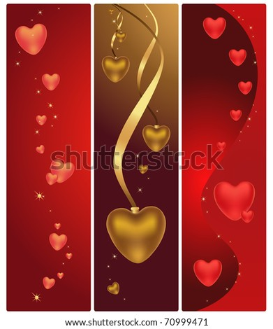 magic hearts on St. Valentine's day - stock vector