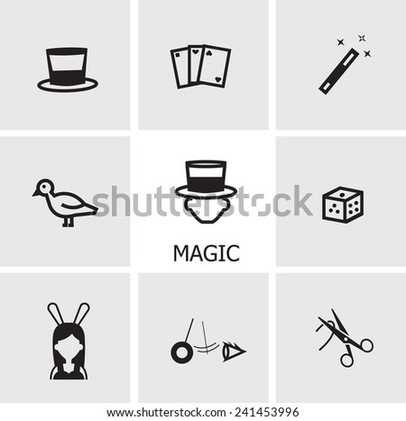 magic icons - stock vector