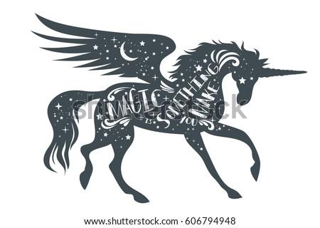 magic something you make magic unicorn stock vector