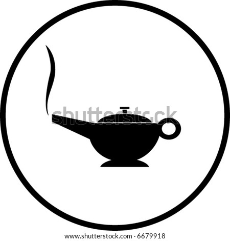 magic lamp symbol - stock vector