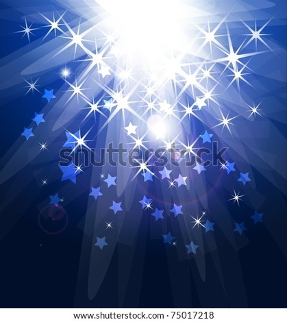 Magic light. Vector abstract background - stock vector