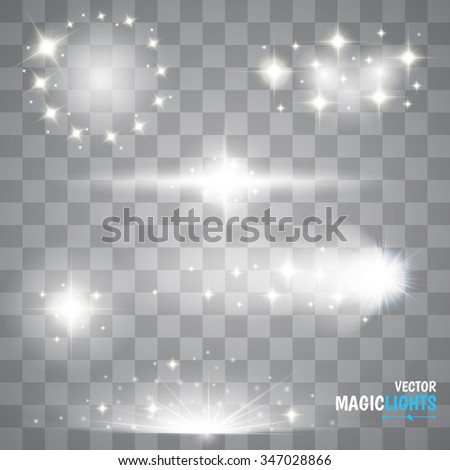 Magic Lights Effects. Set. Christmas Lights - stock vector