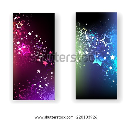 Magic Lights Flyers with a lot of stars - stock vector