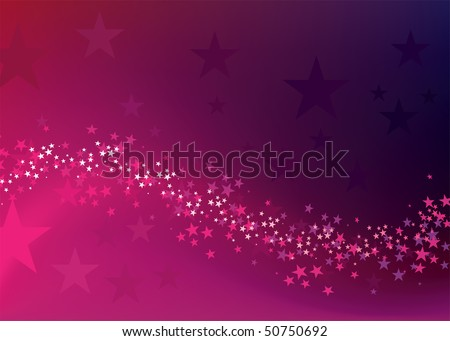 magic star way background - stock vector