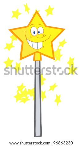 Magic Wand Cartoon Character. Jpeg version also available in gallery. - stock vector
