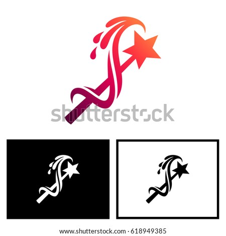 Magic Wand Logo Stock Vector 618949385 Shutterstock