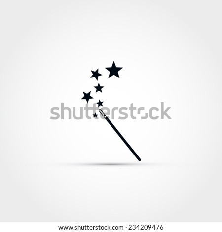 Wand Icon Magic Wand Vector Icon Stock