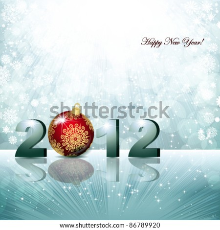 Magic winter background. Abstract vector background - stock vector