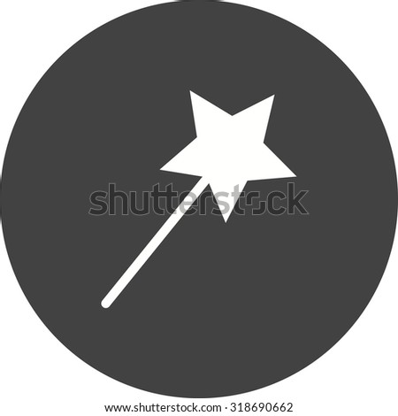 Magic, wizard, wand icon vector image.Can also be used for art and designing. Suitable for mobile apps, web apps and print media. - stock vector