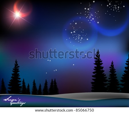 magical christmas background design - stock vector