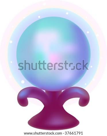 Magical crystal ball - stock vector