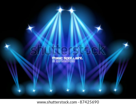 magical spotlight effect vector background design - stock vector