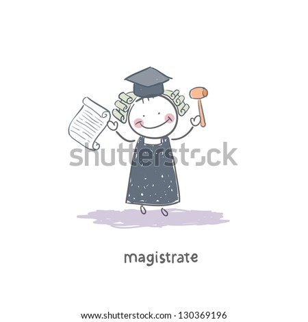 Magistrate - stock vector