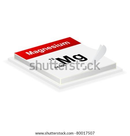 magnesium button - stock vector