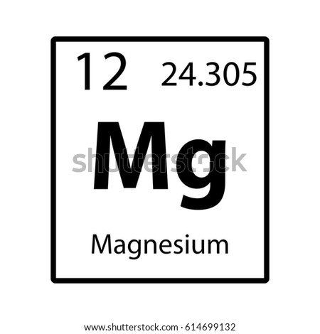 Magnesium periodic table element icon on stock vector 614699132 magnesium periodic table element icon on white background vector urtaz Choice Image
