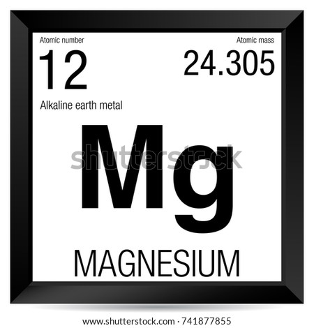 Magnesium symbol element number 12 periodic stock vector 741877855 magnesium symbol element number 12 of the periodic table of the elements chemistry urtaz Images