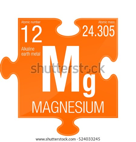 Magnesium Symbol Element Number 12 Periodic Stock Vector Royalty