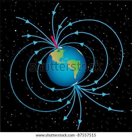 Magnetic field - stock vector