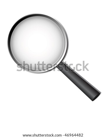 Magnified Glass - stock vector