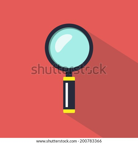 Magnifier. - stock vector