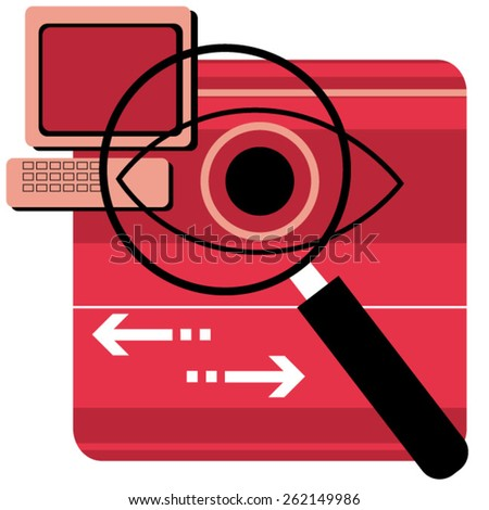 magnifier concept illustration  - stock vector