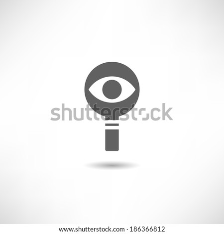 Magnifier icon - stock vector