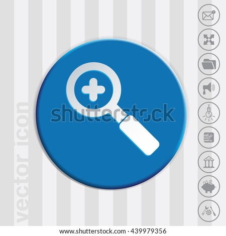 magnifier increase - stock vector