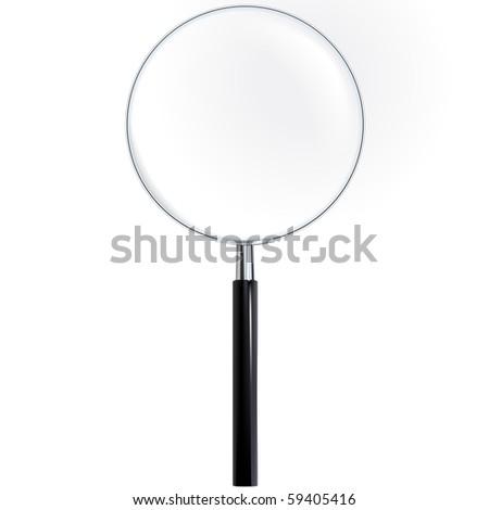 Magnifier - True Ttransparency (vector) - stock vector