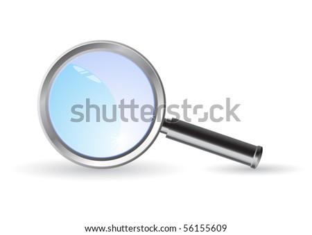 magnifier vector illustration - stock vector
