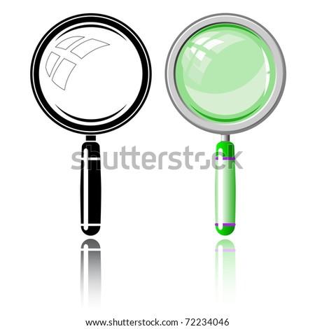 Magnifier. Vector illustration. - stock vector