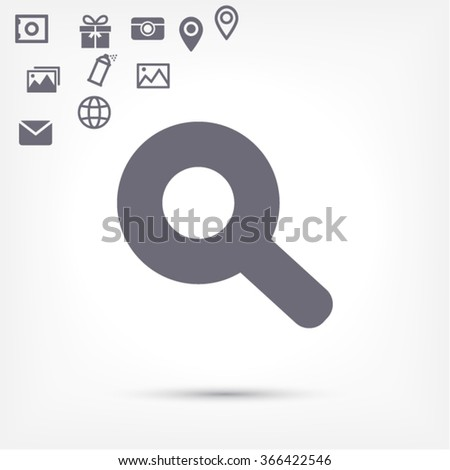 Magnify line vector icon