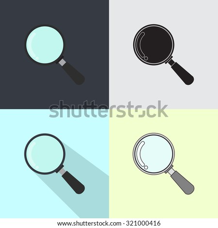 Magnifying glass - stock vector