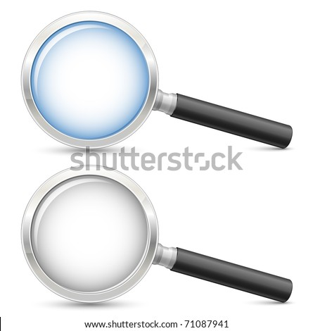 Magnifying glass. Highly detailed realistic vector illustration - stock vector