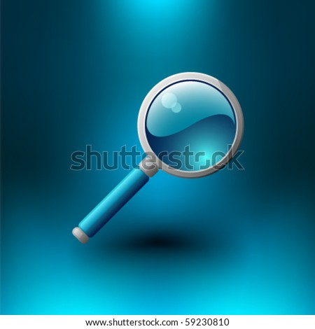 magnifying glass icon - stock vector