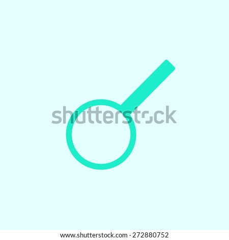 magnifying glass icon. Flat design style - stock vector