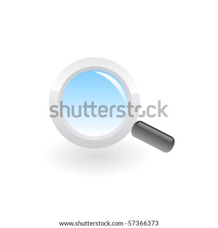 Magnifying glass icon. Vector - stock vector