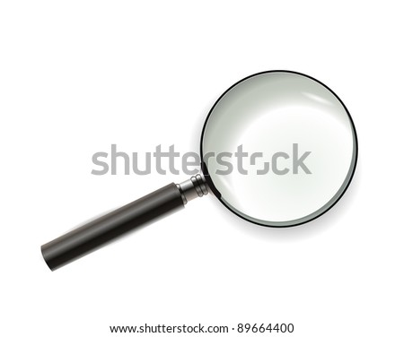 Magnifying glass isolated on white - stock vector