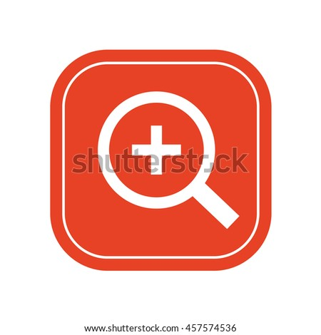 Magnifying glass / loupe / zoom in . icon / vector illustration - stock vector