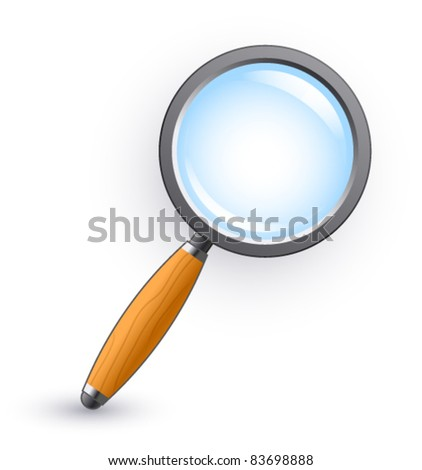 magnifying glass on a white background - stock vector