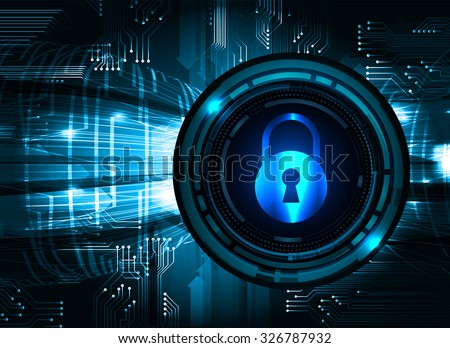 Magnifying Glass scanning and identifying a computer virus. Anti virus protection and computer security concept. PC. one zero. scan. technology digital website internet web. lock, key, Padlock - stock vector